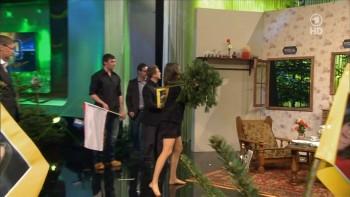 Anja Kohl (German TV Presenter) LEGGY in tights!