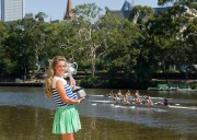 Виктория Азаренко, фото 186. Victoria Azarenka Posing with the Australian Open Trophy along the Yarra River in Melbourne - 29.01.2012, foto 186