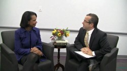 Condoleezza Rice---03.01.2012--Interview--legs--black Nylons