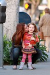 Alyson Hannigan takes Satyana shopping for a new baby crib in LA 02-1-2012 x21