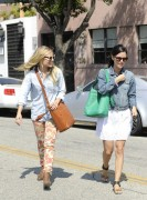 Kristen Bell & Rachel Bilson - leaving  Byron and Tracy salon in LA 06/15/12