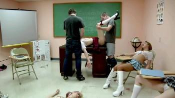 Peachy Keen Film-Schoolgirl Snuff Education-The Attack